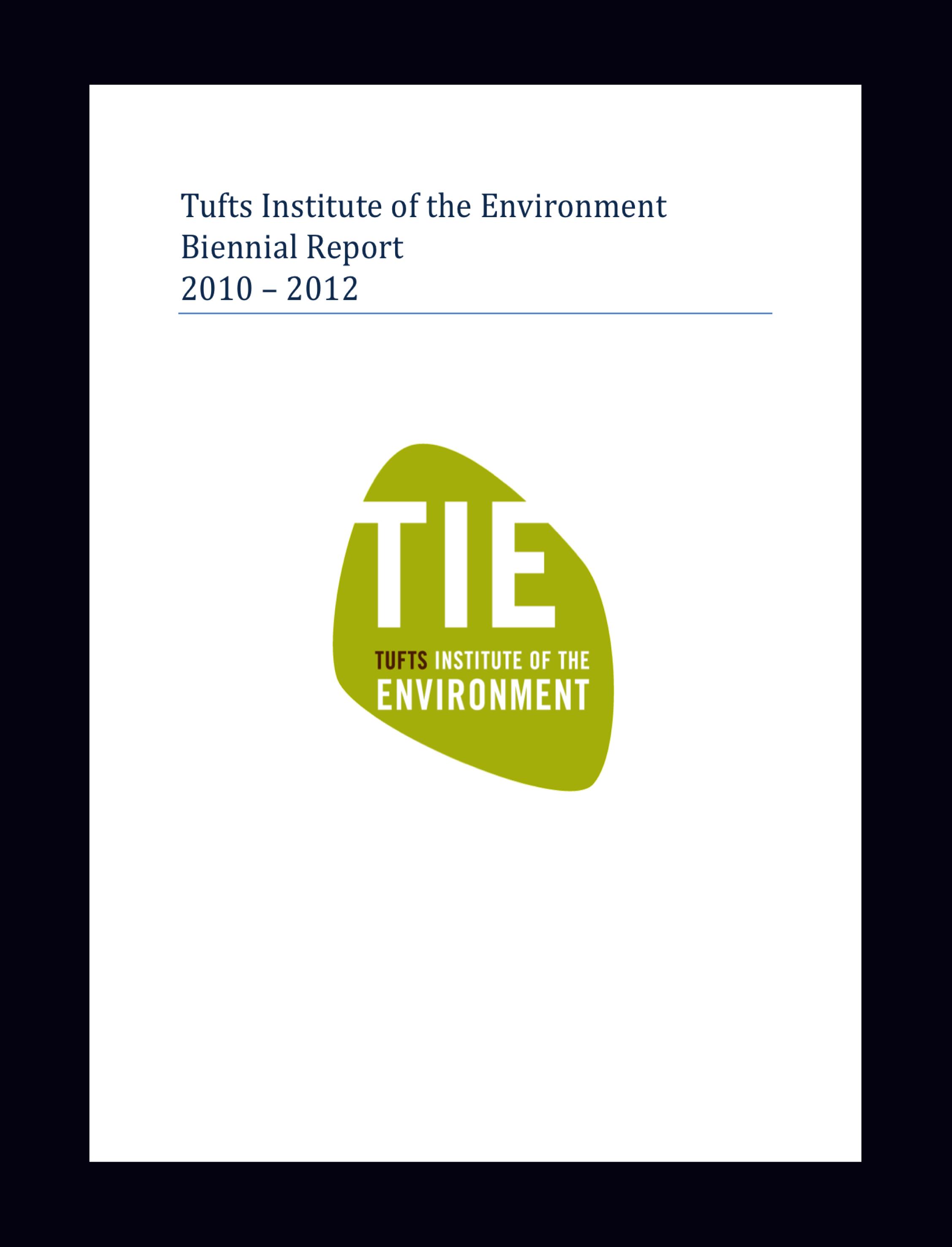 TIE biennial Report