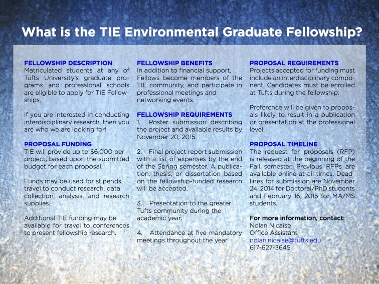 TIE_Graduate Environmental Research Fellowship_2015