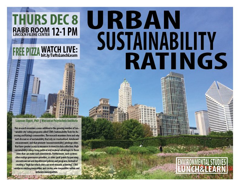 Urban Sustainability Ratings_TIE_Lunch & Learn