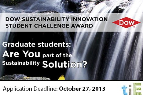 TIE_Dow Sustainability Innovation Student Challenge Award_2013