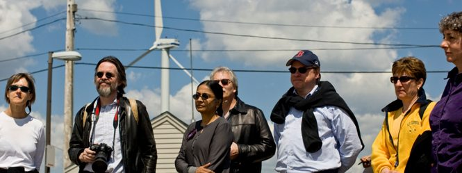 TELI 2008 participants visiting a wind turbine in Hull