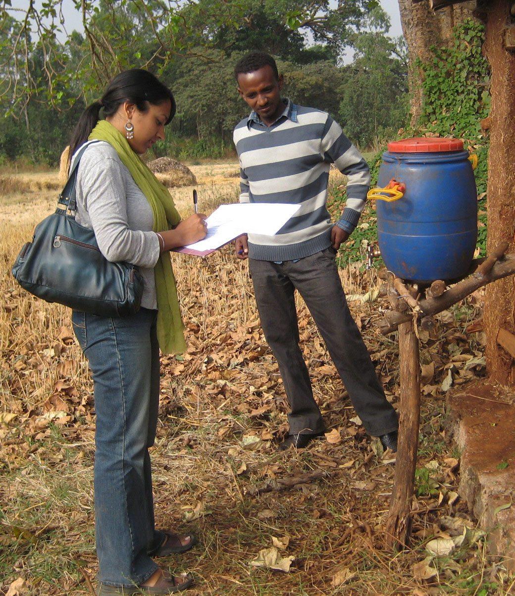Gogi on-site in Ethiopia