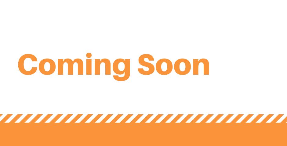 Words Coming Soon in Orange